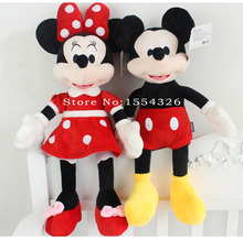 30cm 1pcs/1pair  High quality new Lovely Mickey Mouse Minnie Doll Plush Toy  Christmas birthday gift(China (Mainland))