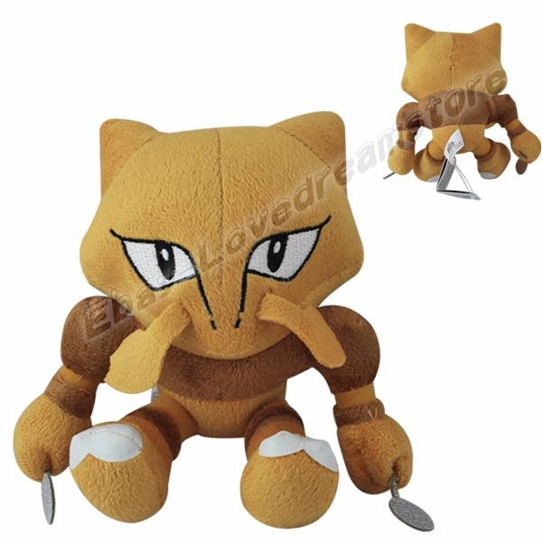 "FREE SHIPPING Japanese Animation Cute! Pokemon Alakazam 16cm/6.4"" Soft Plush Stuffed Doll Toy #065(China (Mainland))"
