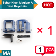 Free shipping MA lcd Body/CASE keychain/Covers for Russian version 2-way SCHER KHAN Magicar A/B lcd two way car alarm remote(China (Mainland))