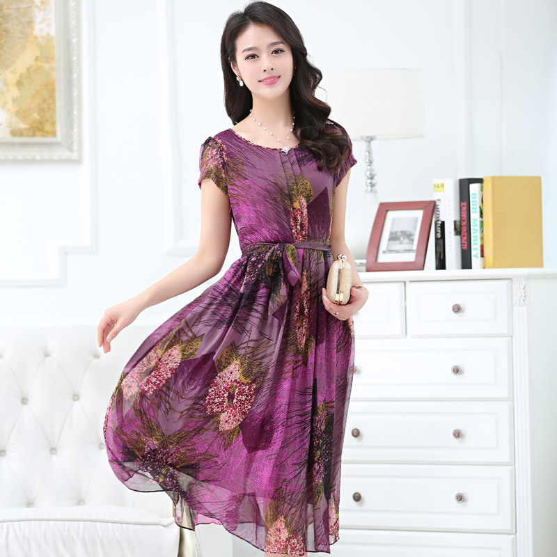 El grande de europa y de gama alta runway fashion Fan Bingbing estrella con otoño impresión de la rosa del vestido del vestido(China (Mainland))