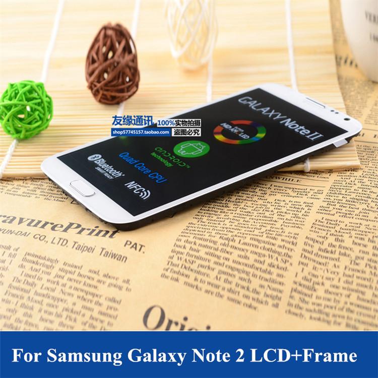 Здесь можно купить  10 PCS/LOT for Samsung Galaxy Note 2 LCD Display Touch Screen Digitizer with frame Assembly Replacement N7100 N7105 I317 I605  Телефоны и Телекоммуникации