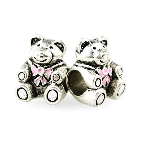 Гаджет  Free Shipping 1Pc Silver Plating Bead Charm Bead Crystal Lovely Bear Bead Fit Bracelets & Bangles Necklace H1019 None Ювелирные изделия и часы