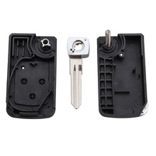 New Replacement Remote Key shell Modify switch 3 buttons uncut flip folding Remote fob Key Shell
