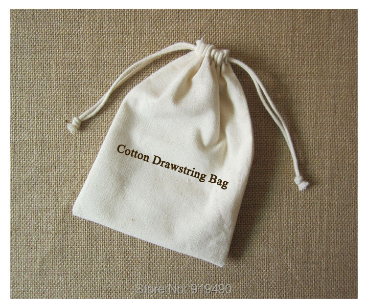 2017 Cotton Canvas Drawstring Bag Packaging Pouch Custom Logo ...