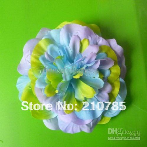 300pcs 4''colorful Gerber colorful Baby Hair Bows Children's Clip Girl Flowers Bands(China (Mainland))