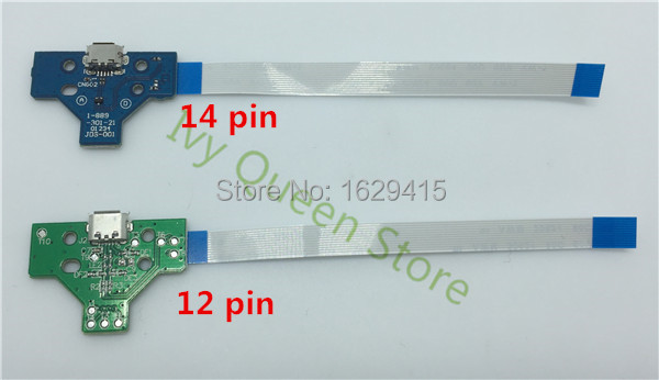 IVY QUEEN Replacement 12pin 14pin LED Power Charge Board with Flex Ribbon Cable for Sony Playstation 4 PS4 Wireless Controller(China (Mainland))