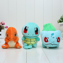 10 set 3pcs/set Newest Collectible Bulbasaur Charmander Squirtle Plush Figure Doll high quality(China (Mainland))