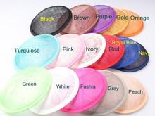 2016 Multiple Color 13CM ROUND SINAMAY Fascinator Base New DIY Women Party Fascinator Hat Base 10pcs/Lot WHolesale(China (Mainland))