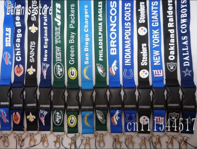 FREE SHIPPING football Key lanyard  ID holders for collection Mix order