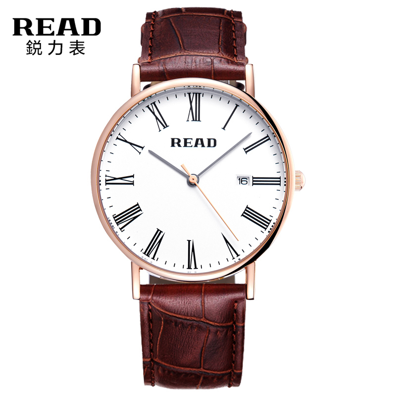 READ Men Luxury Watch Mens Chronograph Sport Wristwatch Leather Straps Casual Quartz Watches Round Dial Gold Male Clocks Hours<br><br>Aliexpress