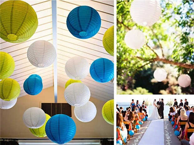 8 inch/20cm Round Paper lantern Lamps Festival Party Wedding Birthday Christmas Event Decoration Chinese Paper Lanterns 200pcs