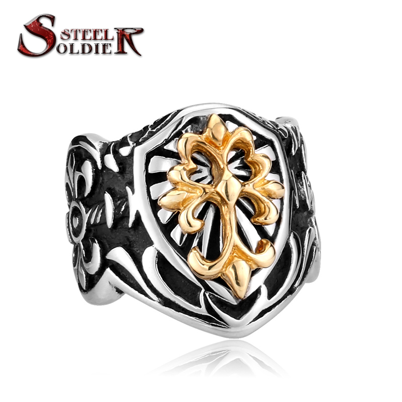 Steel soldier wholesale hot sale Gothic Men's High Quality Fashion Jewelry Stainless Steel Fleur De Lis BR8-078(China (Mainland))