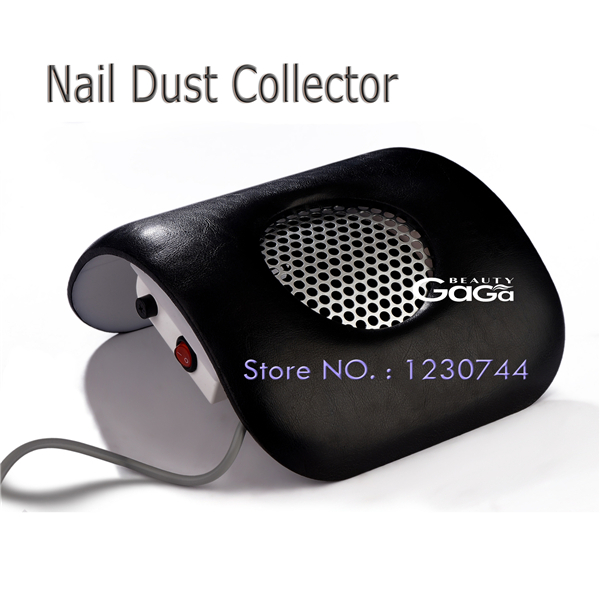 Beauty GaGa Nail Dust Collector Nail Art Manicure Tools Black Color Nail Beauty Equipment Dust Suction Strong Fan(China (Mainland))