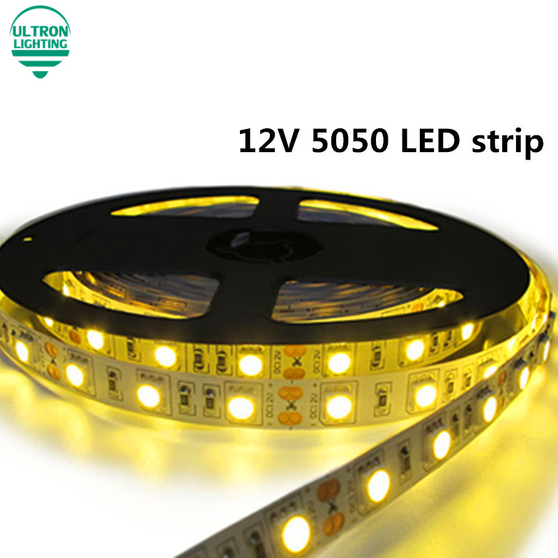 DC12V SMD5050 60LED/m Flexible LED strip Light,Warm White/White/Cold white/Blue/Green/Red/Yellow/RGB Color,5m/lot(China (Mainland))