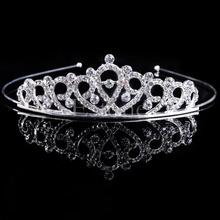 Bridal Wedding Hair Accessories Crystal Rhinestone Crown Headband Stunning Crystal Tiara Wedding Crown Children Tiaras Headband(China (Mainland))