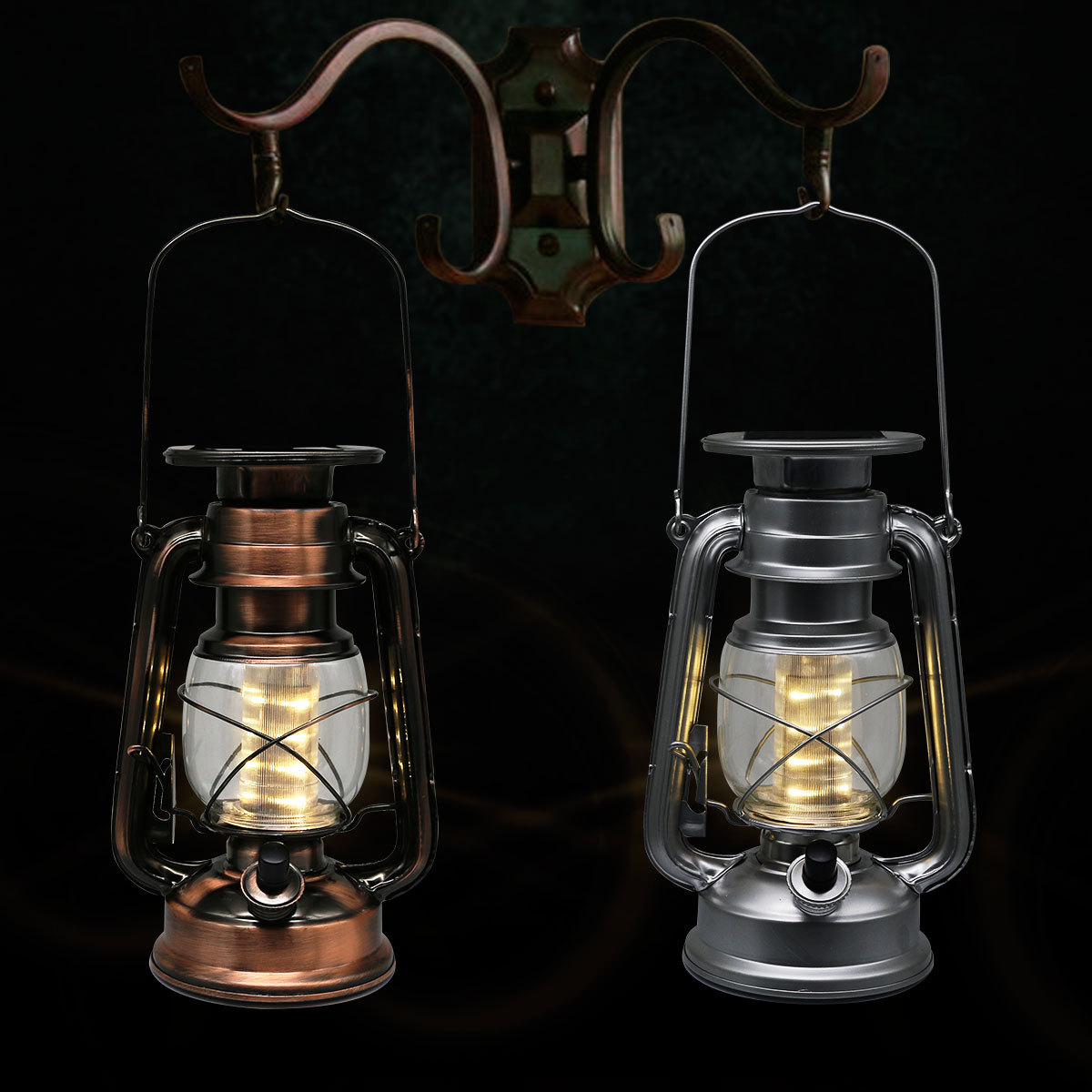 Solar Power 12 LEDs Camping Light Outdoor Waterproof Garden Pathway Lamp Light Energy Saving LED Silver Copper Color Optional(China (Mainland))