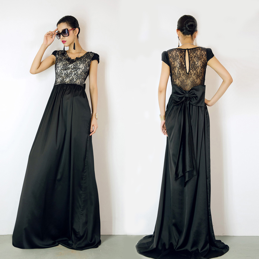 Simple Black Dress Designs 2013 For Girls  Black Frock Designs