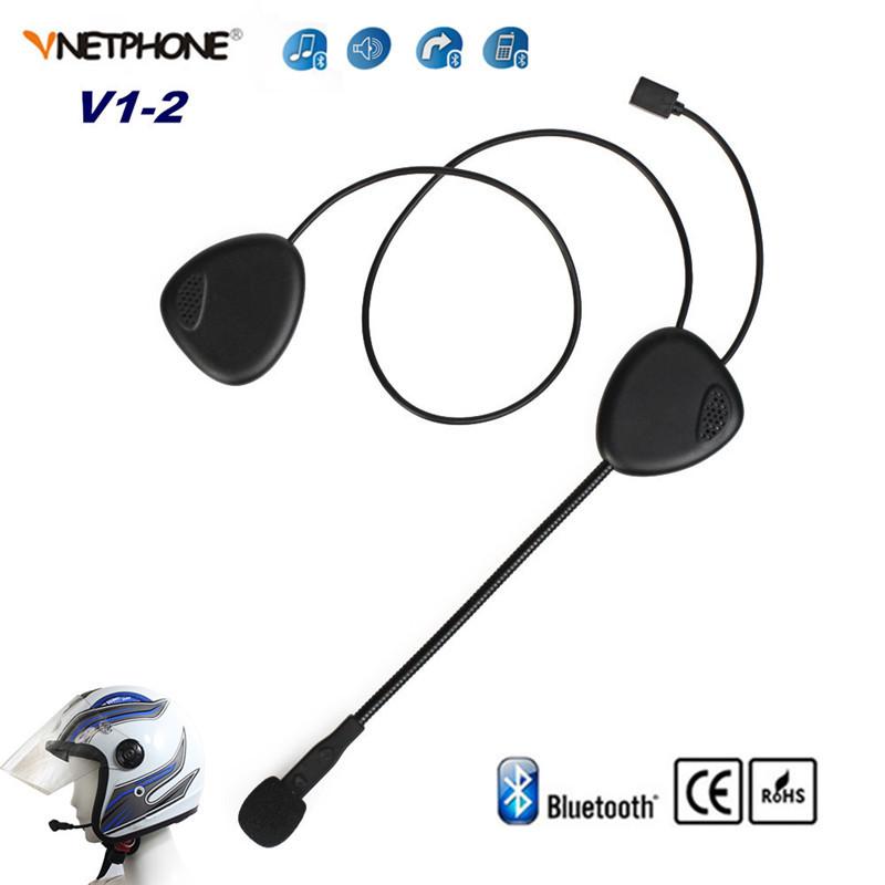 2016 New Ventphone V1-2 New Bluetooth Helmet Motorcycle Intercom Headset Binaural Motorbike BT speakers Earphone Talk+Music(China (Mainland))