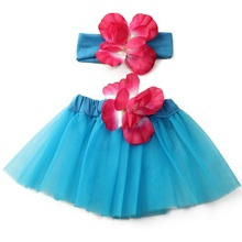 Fashion Hot Sale 0-12 Months Girls Baby Flower Tutu Skirt Headband Prop Lovely Princess  Photography Clothing Costume 2 Colors(China (Mainland))