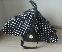 New arrival!  car seat canopy infant car seat canopy cover boys/girls collection white polka dots+free shipping(China (Mainland))