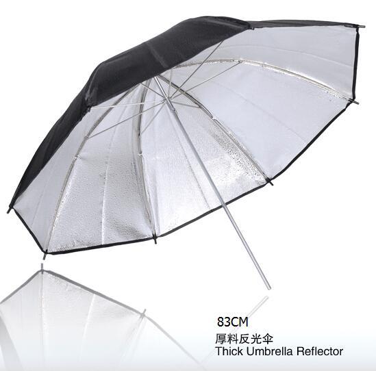 NiceFoto SUM-33(83cm) Studio lighting accessories Thick umbrella reflector, photography umbrella 83CM(China (Mainland))