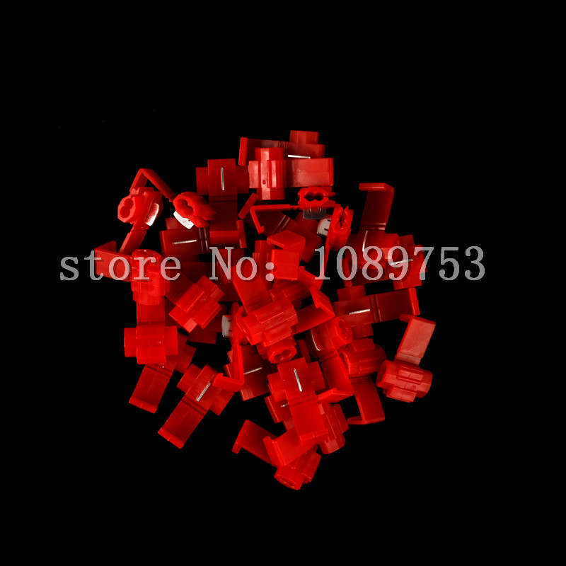 20 x Electrical Terminals Crimp Quick Splice Lock Wire Connector 22-18 Gauge 0.5-1.0mm2 Red(China (Mainland))