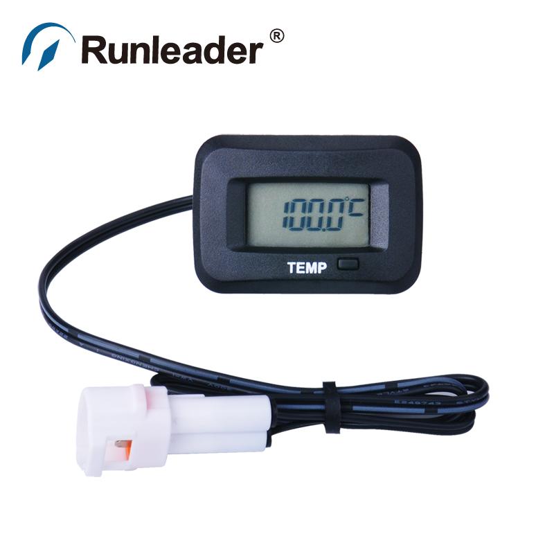 Runleader RL-TM006 digital TEMP sensor METER thermometer temperature meter for excavator motorcycle tractor ATV chainsaw Trailer<br><br>Aliexpress