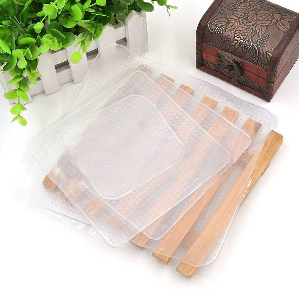 19.3x19.3cm Magic Seal Cover Multifunctional Stretch Cling Food Film Vacuum Silicone Food Fresh Storage Wrap Clear Best Selling(China (Mainland))