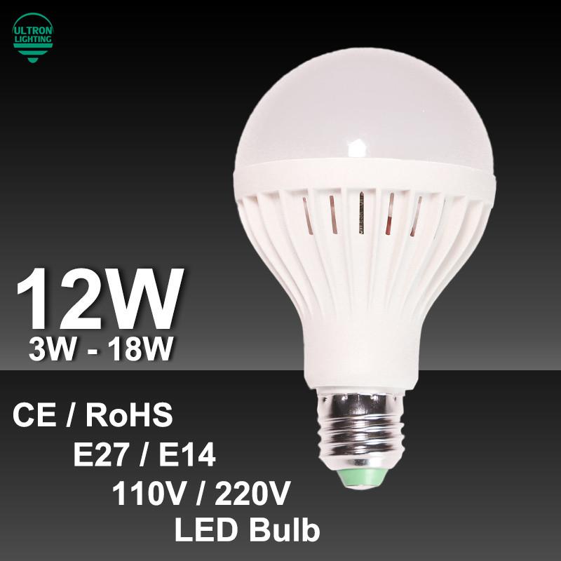 Lampada LED SMD 5730 Led Light Bulb 3W 5W 7W 9W 12W 15W 18W LED Lamp E14 E27 220V 110V Cold Warm White Led Spotlight Lamps(China (Mainland))