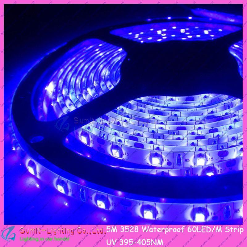Гаджет  DC12V  5M/Roll Waterproof 300LEDs 3528SMD 60led/m Flexible LED Ultraviolet/Purple/UV Strip Light 395NM-405NM None Свет и освещение