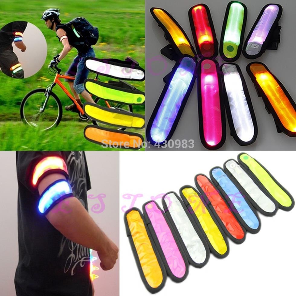 F98Free Shipping 1pc Reflective Flashing LED Glow Armband Ankle Visible Arm Belt Strap Sports Biking(China (Mainland))