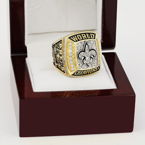 2009 NFL New Orleans Saints XLIV Super Bowl Football Championship Ring Size 11 With High Quality Wooden Box Fans Best Gift<br><br>Aliexpress