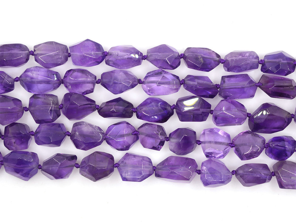 a grade faceted amethyst nuggets gemstone