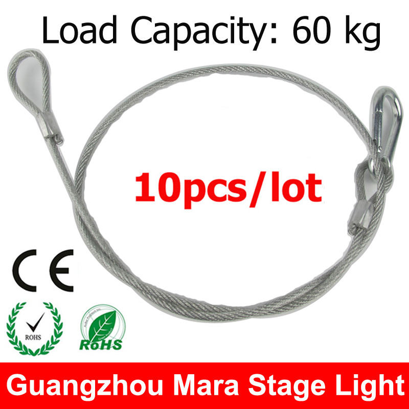 10pcs/lot 80cm Stage Lights Safety Cable For Stage Effect Lights Par Light Moving Head(China (Mainland))
