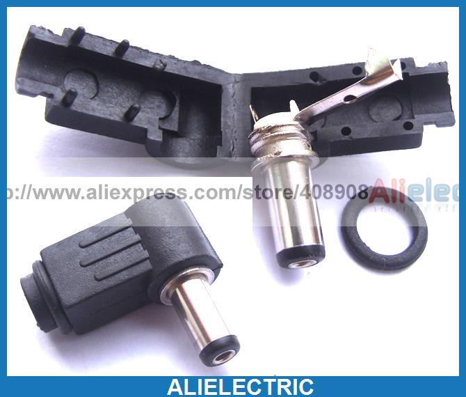Фотография 250pcs 14mm x 5.5mm x 2.5mm DC Socket Right Angle for Charger Power Plug Solder