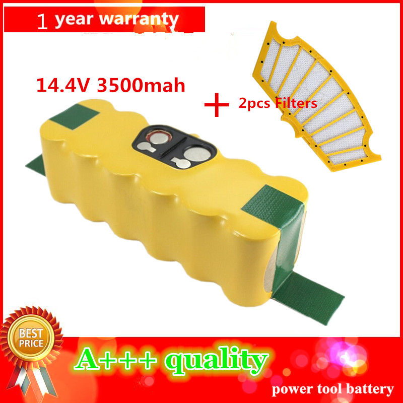 3500mAh High Quality New Battery Pack for iRobot Roomba 500 Series 510,530,535,540,550,560,570,580 Battery Robotics+2pcs Filters(China (Mainland))