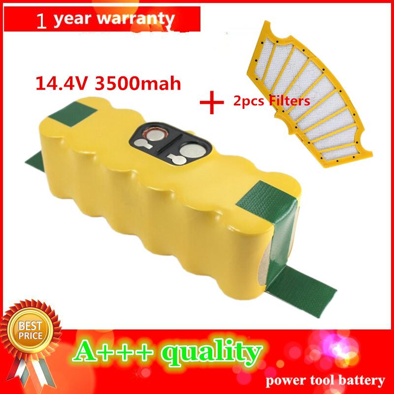3500mAh High Quality New Battery Pack for iRobot Roomba 500 Series 510,530,535,540,550,560,570,580 Battery Robotics+2pcs Filters(China (Mainland))