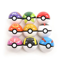 1pc Colorful Action Anime Figures Balls for Pokemon Plastic Super Ball Kids Toys (China (Mainland))
