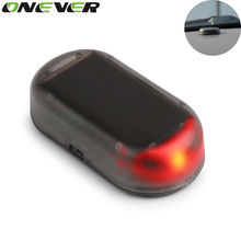 Onever 1PCS Hot Selling Fake Solar Car Alarm Lamp Security System Warning Theft Flash Blinking Red Color(China (Mainland))