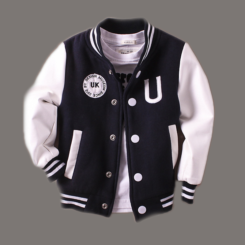 2-9T Baby Boy Clothes Boys Jacket 2016 Spring Letter Boys Outwear For Children Brand Kids Coats For Boys Baseball Sweatershirt(China (Mainland))