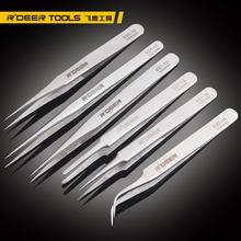 Hong Kong R'DEER hard stainless steel tweezers, electronic tweezers Electronics Repair Tools free shipping