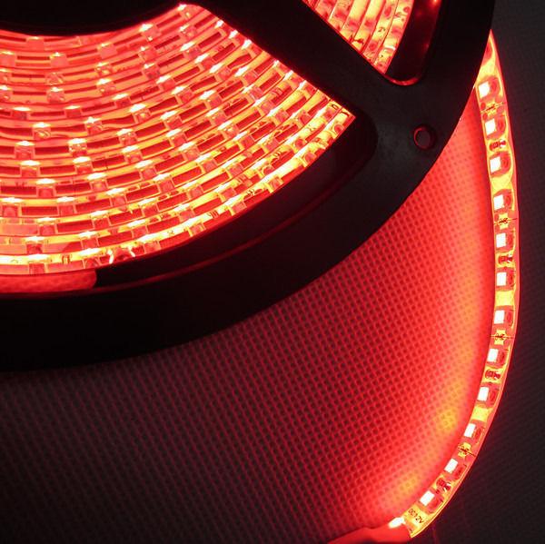 5M 3528 RED 120Leds/m Waterproof White PCB Hi-Q led strip,3528 SMD 600 LEDs Flexible Light DC12V(China (Mainland))