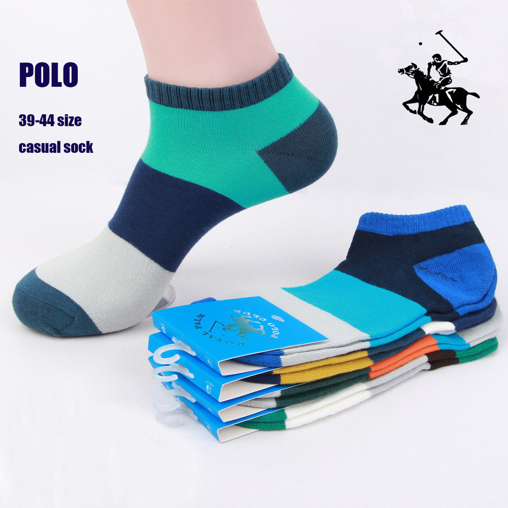 2015 10pcs=5 pairs POLO Brand 38-44 Europe Size 5 Colors Mixed Cotton Men's Casual Socks summer high quality Sports socks(China (Mainland))