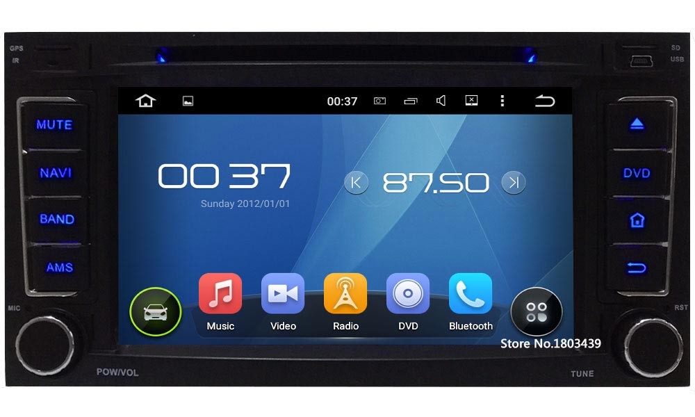 """Quad Core 7"""" 1024*600 Android 5.1.1 Car DVD Video Player Radio PC 3G/4G WIFI DAB+ GPS Map For VW Touareg T5 Multivan Transporter"""