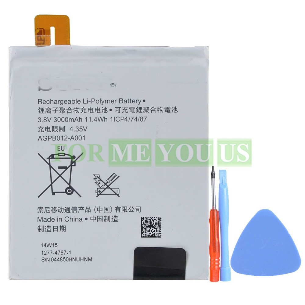 Replacement Original Battery AGPB012-A001 3000mAh 3.8v for Xperia T2 Ultra D5316 D5306 D5322 D5303 Free Shipping(China (Mainland))