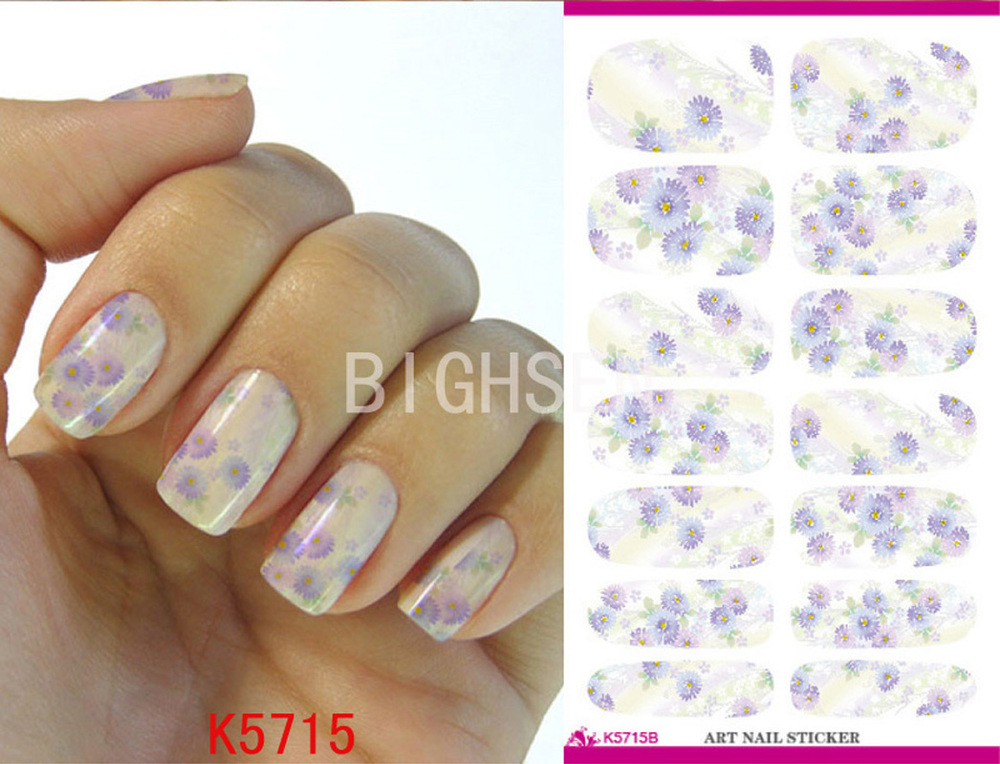 Full Cover Manicure Stickers Trasfer Nail Decorations Design Water Chinese Nail Art Water Nails Decals Nails Decoration BK5715B(China (Mainland))