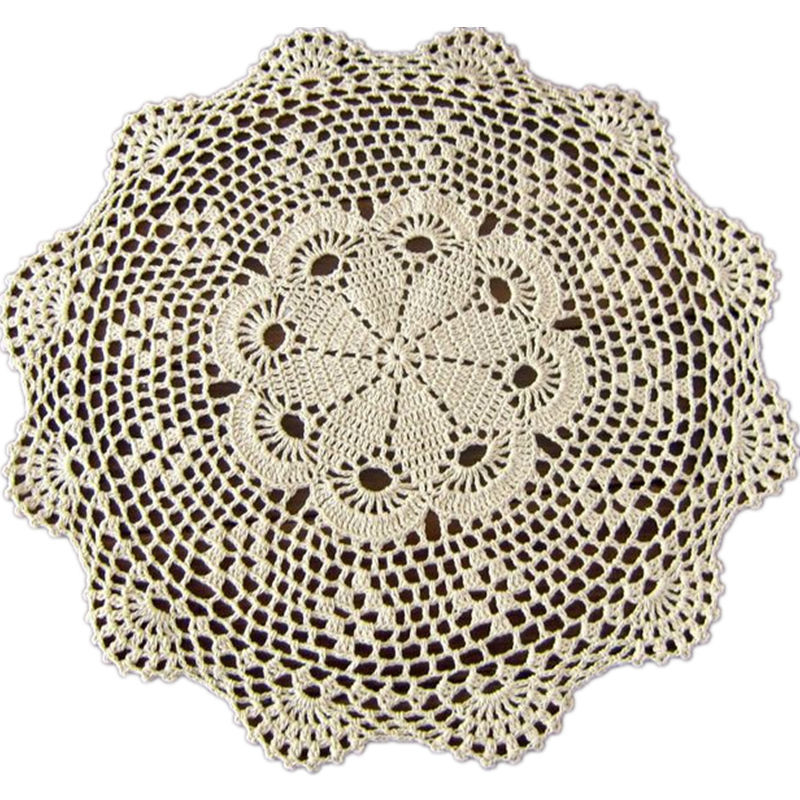 handmade crochet dish mat doilies tablecloth round pad doily crochet flower table mat American home decor [Can custom] Set of 2(China (Mainland))