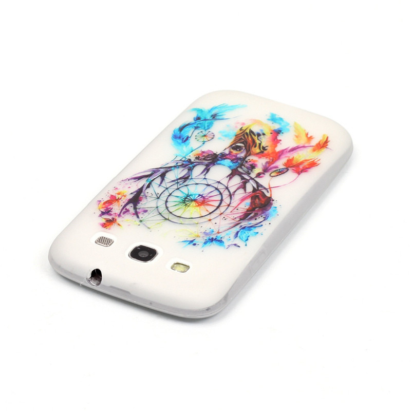 For Samsung Galaxy S3 S III i9300 Duos i9300i S3 Neo i9301 Luminous Silicon Phone Case Painted Fashion Pattern Light Cover Skin
