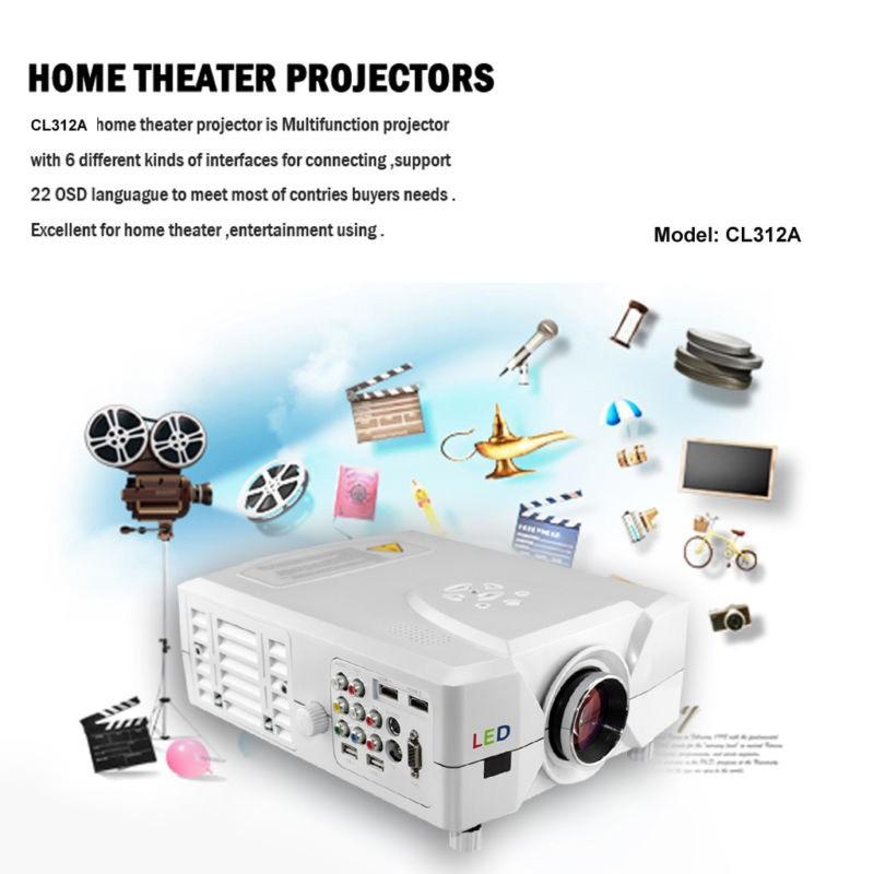 Full HDMI Beamer SPV312 1080P 2200 Lumen 2xHDMI 2xUSB Video 3D Projector/Projektor 3D &amp; HD<br><br>Aliexpress