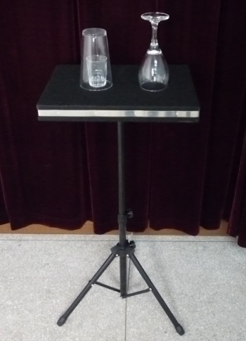 Glass Breaking And Coin into Glass Table - Stage Magic / Magic Trick, Gimmick, Props(China (Mainland))